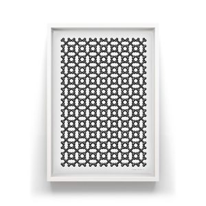 Every Dog - Silkscreen limited edition Silkscreen print, repetitive wallpaper tiled bone pattern.