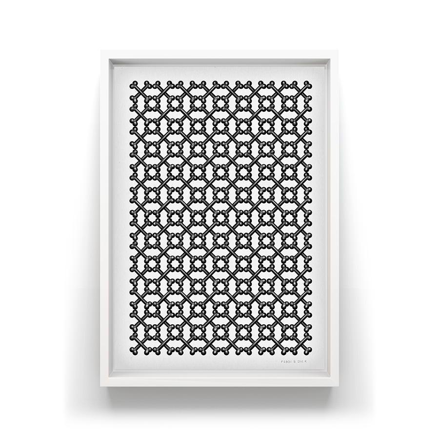 Every Dog - Silkscreen limited edition Silkscreen print, repetitive wallpaper tiled bone pattern.